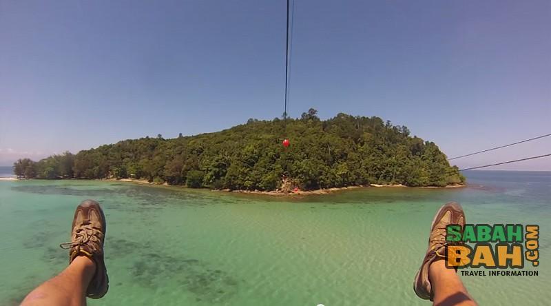 Sabah's Longest Zipline from Gaya to Sapi Islands - Coral Flyer