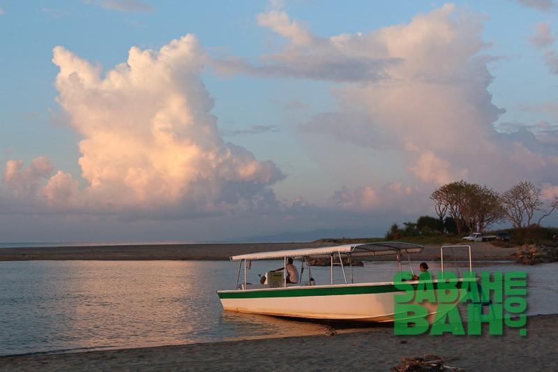 On the beach near Kota Belud waiting for Sunset - Proboscis Monkey & Firefly River Cruise, Kota Kinabalu, Sabah